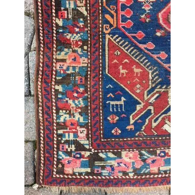 "Antique Yalameh Persian Rug - 4'8"" X 8'11"" - Image 9 of 10"
