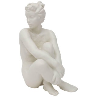 Figurine Sculpture of Nude Female by Frederich Gronau for Rosenthal For Sale