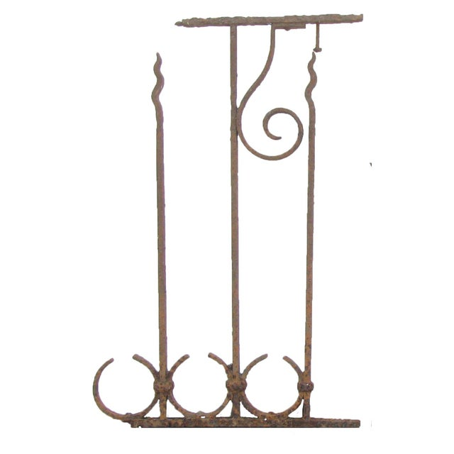 Adirondack Antique French Iron Fence Fragments, Pair For Sale - Image 3 of 4