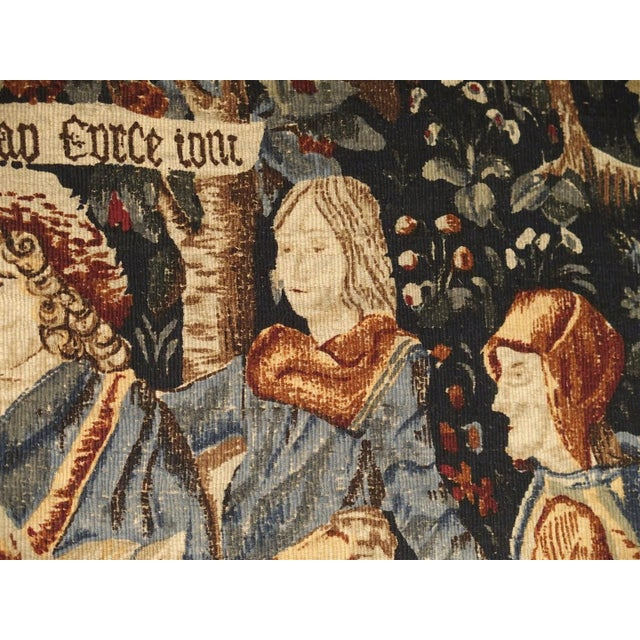 Late 20th Century Medieval Style Tapestry from France, 20th Century For Sale - Image 5 of 12