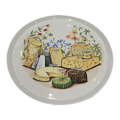 French Cheese Serving Platter For Sale