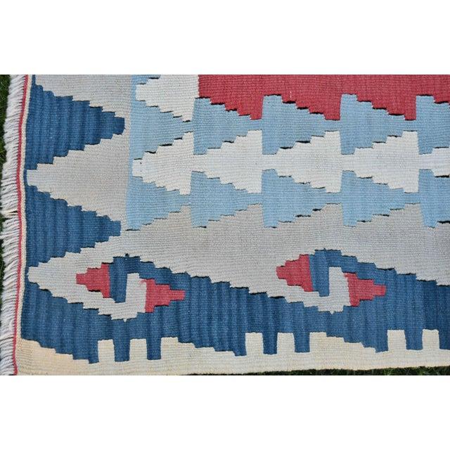 1990s Vintage Turkish Anatolian Oushak Kilim- 3′7″ × 7′5″ For Sale - Image 9 of 10