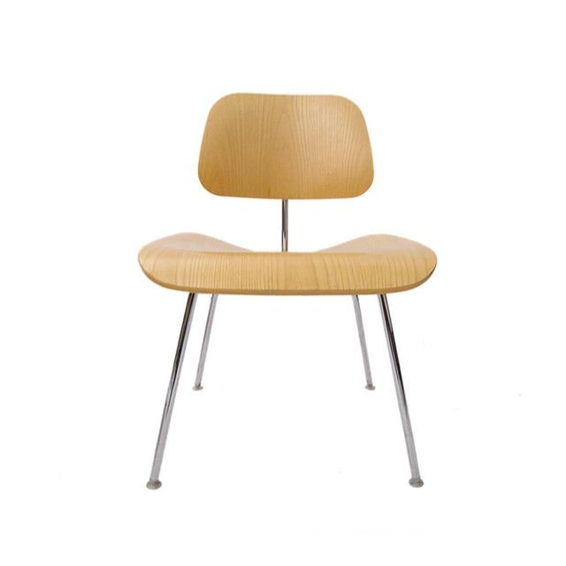 Mid 20th Century Many Charles Eames DCM Bent Plywood & Steel Chairs for Herman Miller White Ash For Sale - Image 5 of 7