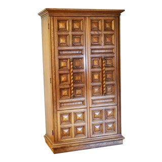 1971 Mediterranean-Style Armoire For Sale