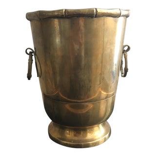 Brass Footed Cachepot