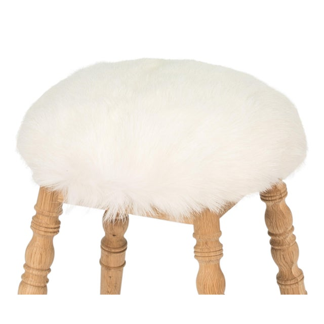 Sarreid LTD White Winoma Stool - Image 5 of 7