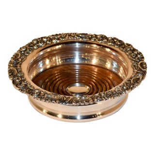 Late 19th C Silver Plated Wine Coaster For Sale