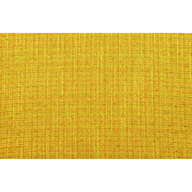Circa 1940s Maple Wood & Saffron Upholstered Lounge Chair - Image 9 of 10