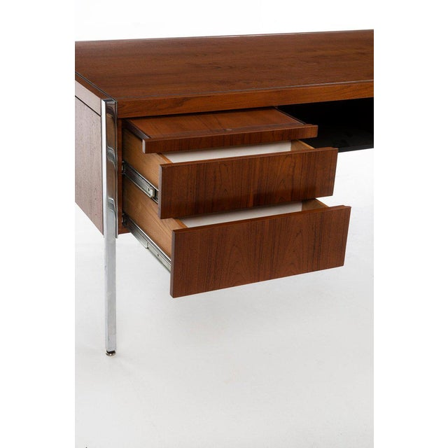Silver Richard Schultz Executive Desk For Sale - Image 8 of 12