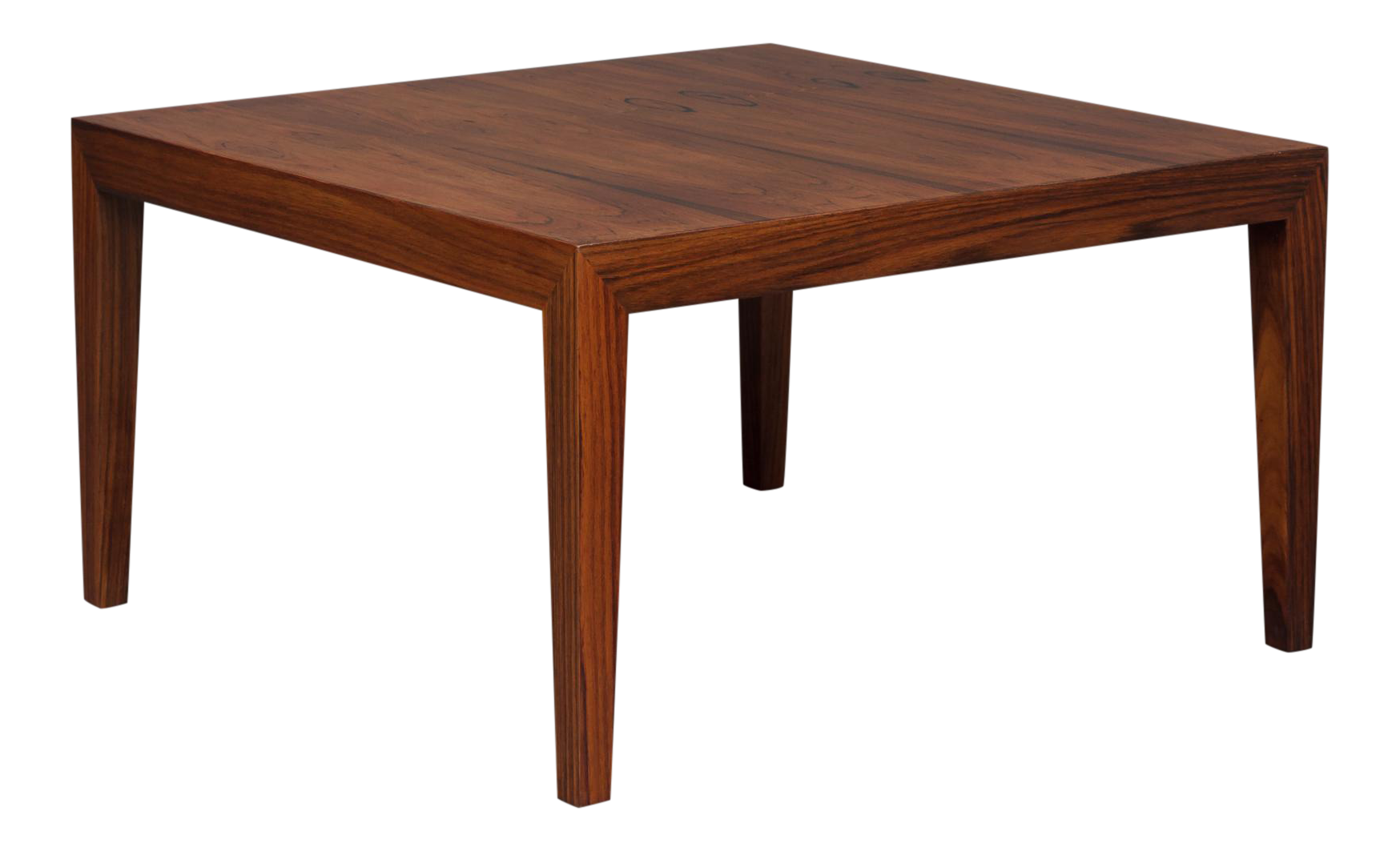 1960s Severin Hansen Square Rosewood Coffee Table