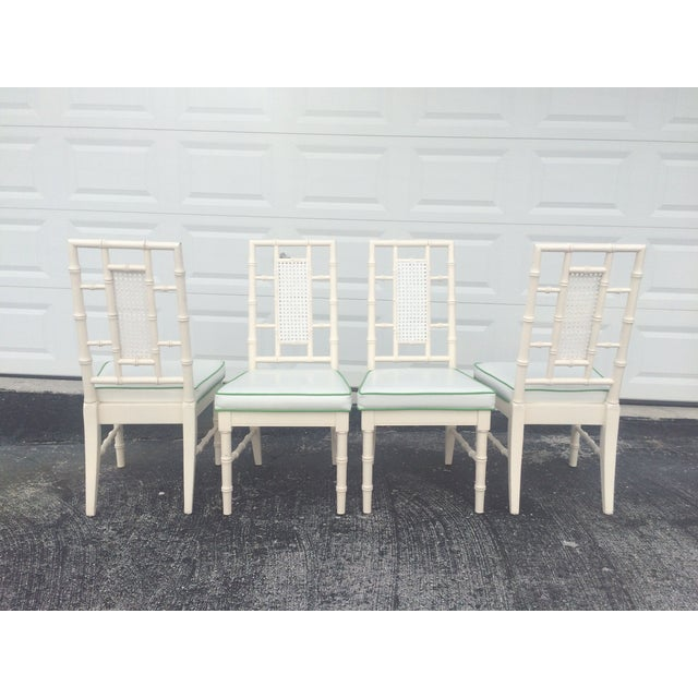 Faux Bamboo Dining Chairs With Cane Back - S/4 - Image 5 of 9