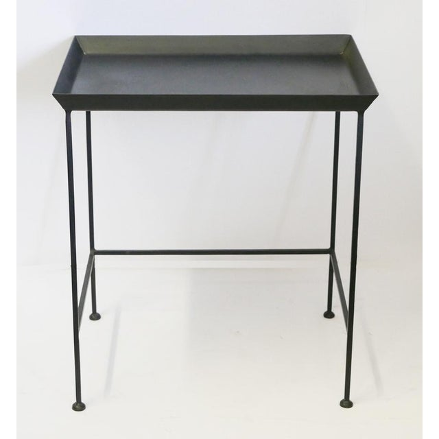 1990s Black Metal Tray Table For Sale - Image 5 of 5