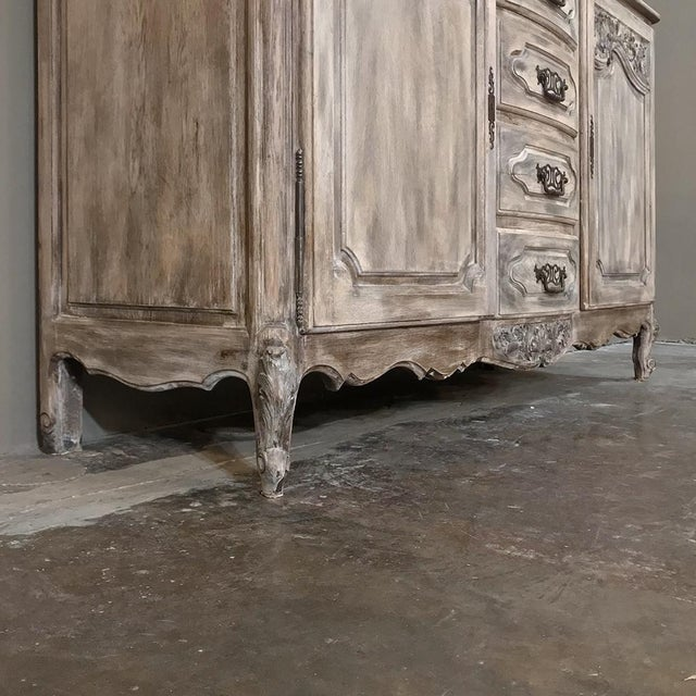 19th Century Country French Normandy Painted Buffet For Sale - Image 11 of 13