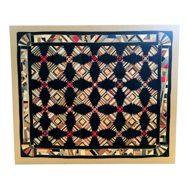 1870s Pennsylvania Pineapple Quilt - Image 1 of 5