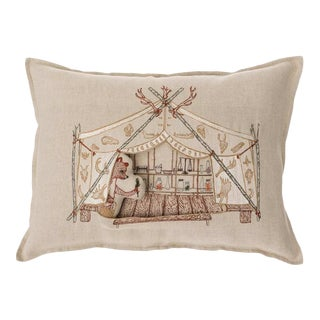 Bear Apothecary Tent Pocket Pillow For Sale