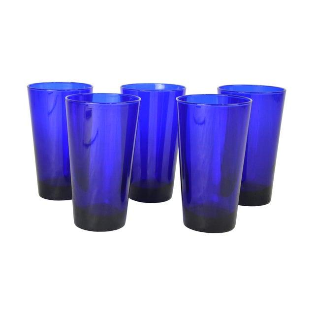 Vintage Cobalt Cocktail Glasses - 5 - Image 1 of 4
