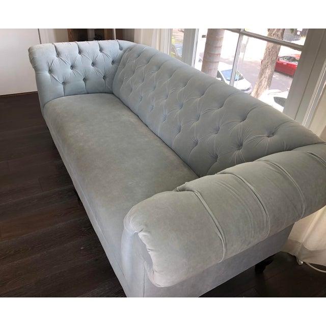 Modern Mitchell Gold Chesterfield Sofa Chairish