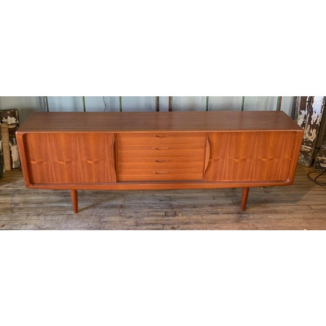 Danish 1950s Teak Credenza Cabinet For Sale - Image 10 of 11