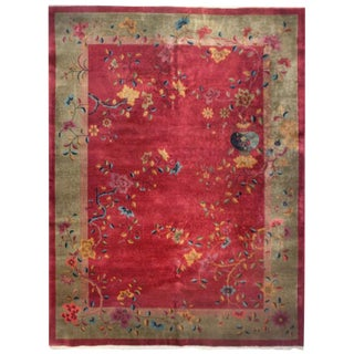 Chinese Art Deco Rug - 8′10″ × 11′6″ For Sale