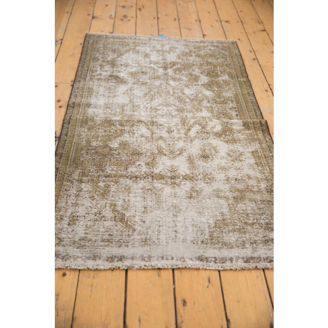 "1940s Vintage Distressed Fragment Malayer Rug - 3'1"" X 5'1"" For Sale - Image 5 of 11"