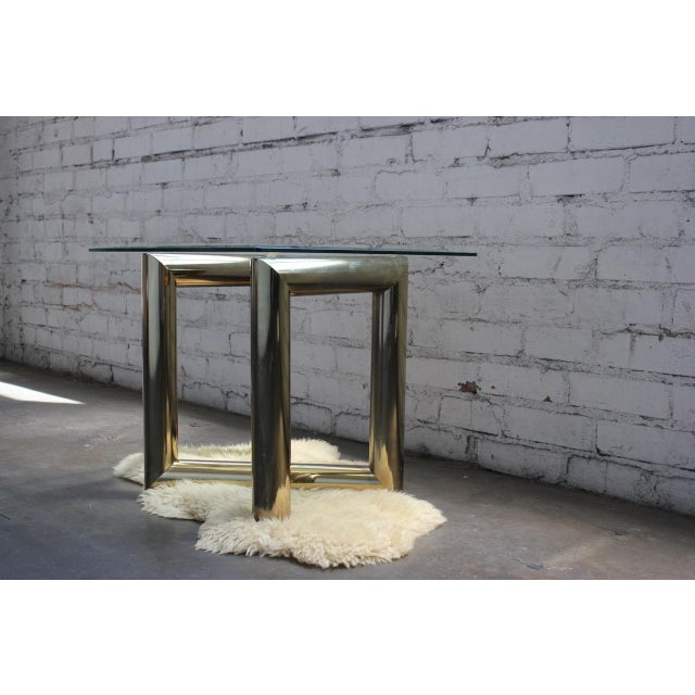 Pace Brass and Glass Side Table - Image 6 of 7