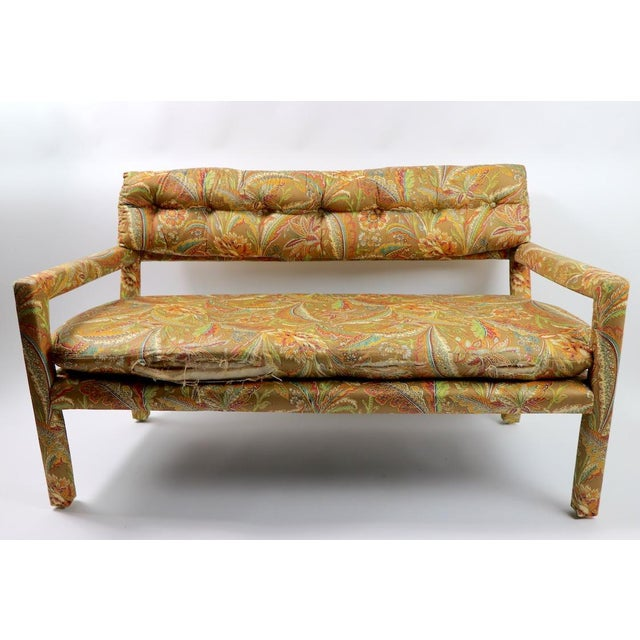 Green Groovy All Upholstered Bench by Classic Gallery Inc. After Baughman For Sale - Image 8 of 12