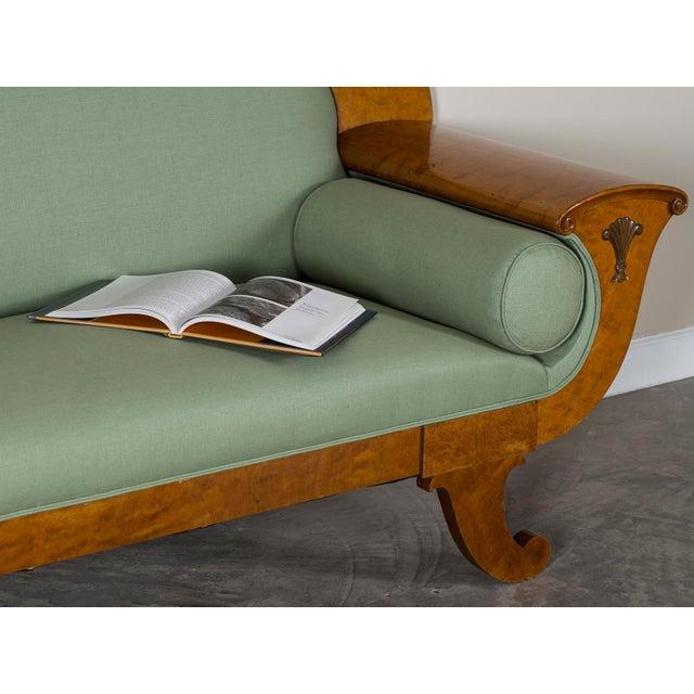 1920s Swedish Grace Biedermeier Satinwood Sofa For Sale - Image 4 of 11