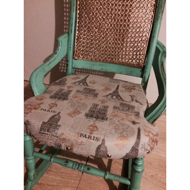 Shabby Chic Green Rocking Chair - Image 4 of 5