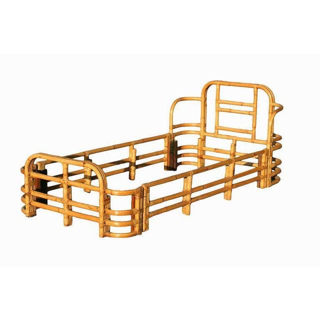 Restored Single Sized Bent Rattan Bed Frame - Image 2 of 5