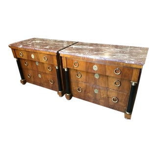 Pair of Elegant Empire Style Chests by Baker For Sale