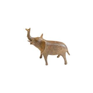 Vintage African Medium Bronze Elephant For Sale
