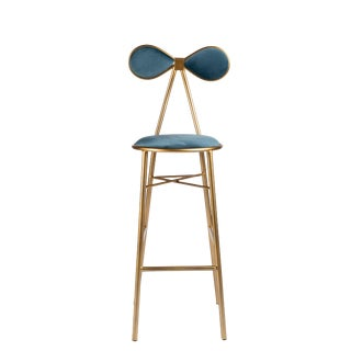 Modern Gold Bow Bar Chair For Sale
