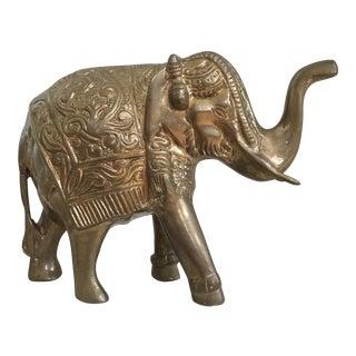 Vintage Brass Elephant For Sale