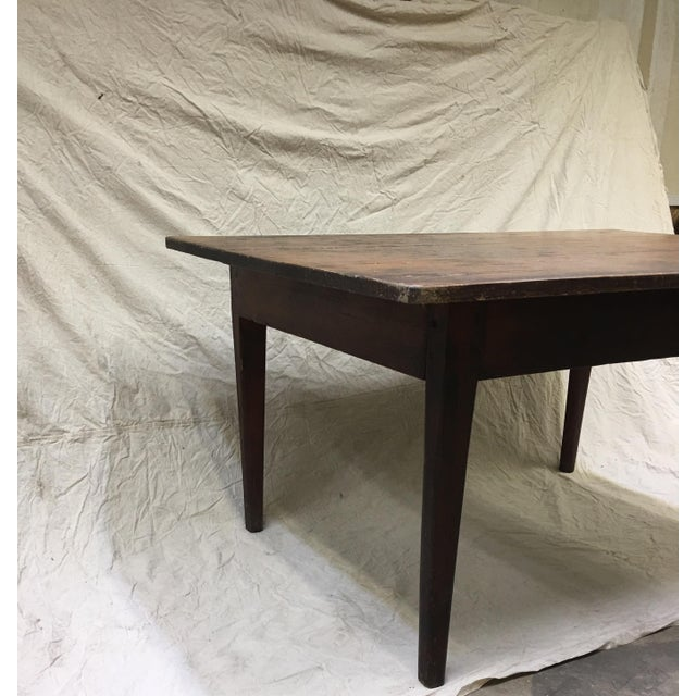 Fabulous rustic Farmhouse table. This is a vintage handmade/primitive piece (see photos for details). It can be used as is...