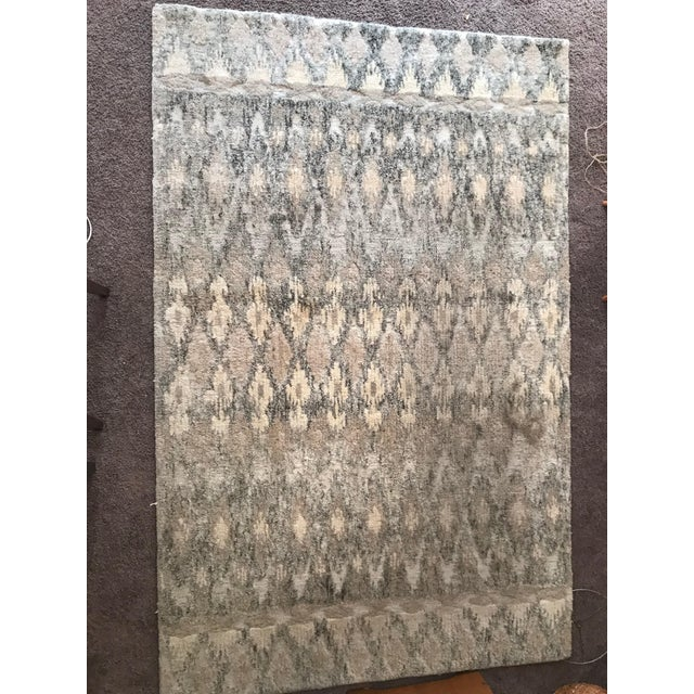 West Elm Handcrafted Ikat Wool For Sale - Image 9 of 11