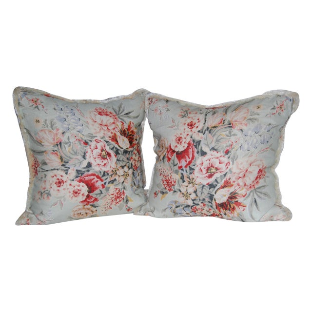 Travers Floral Pillows - Pair - Image 1 of 4