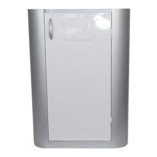 Bar Cart - Gray White Cabinet Wine Barware Storage For Sale