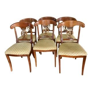 Roche Bobois French Dining Chairs- Set of 6 For Sale
