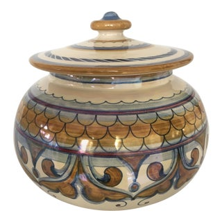 Francesca Niccacci Italian Majolica Ceramic Jar For Sale