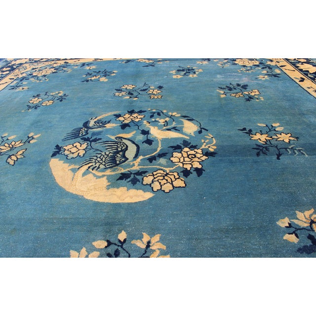 Ceramic Early 20th Century Antique Chinese Peking Rug - 9′10″ × 11′8″ For Sale - Image 7 of 9