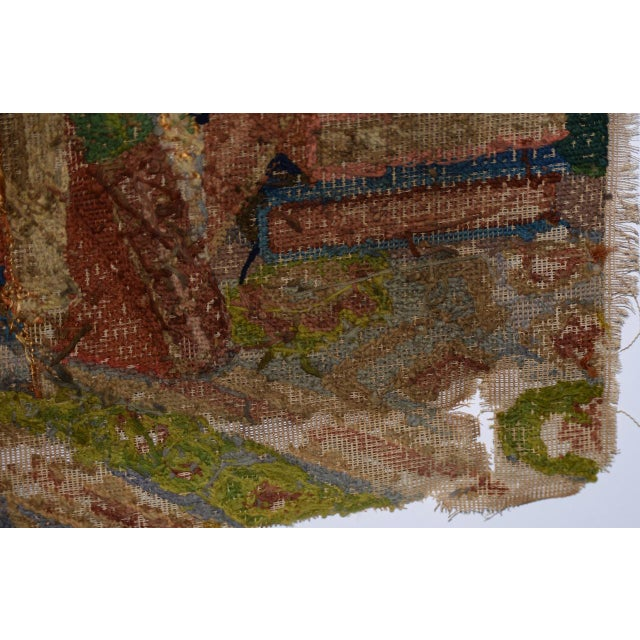 George Washington Hand Embroidered Tapestry C. 1850s For Sale - Image 12 of 13
