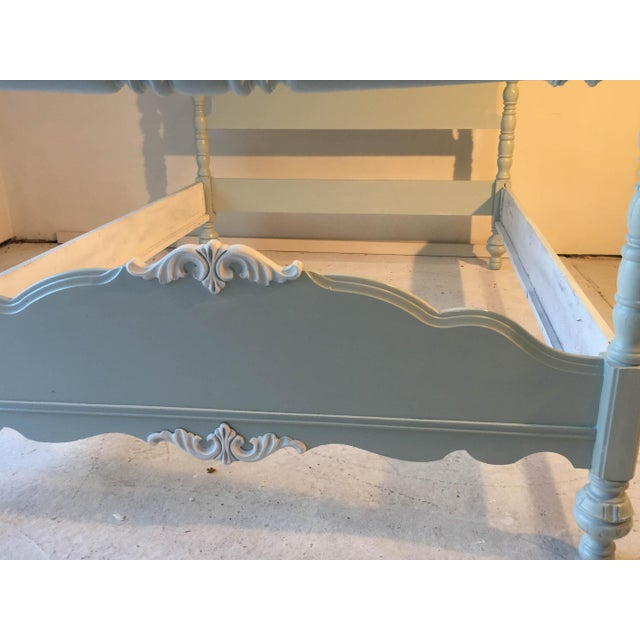 Cottage Country Style Antique Double Size White Bed - Image 9 of 9