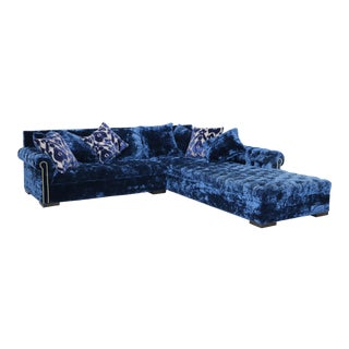 Haute House Antoinette Midnight Right Chaise Sectional For Sale