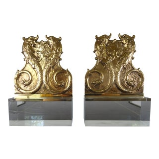 19th Century French Mounted Dolphin Plaques - a Pair For Sale
