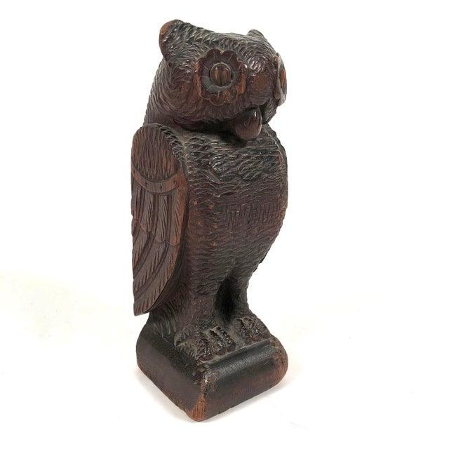 Folk Art Carved Owl For Sale - Image 12 of 12