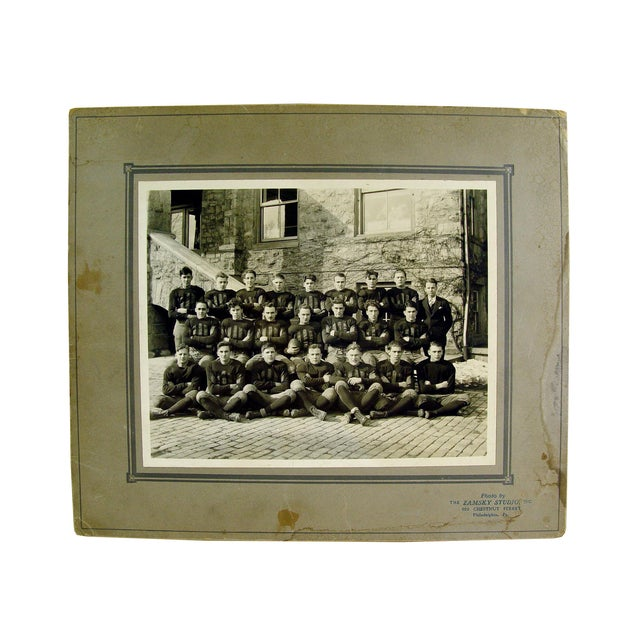 Antique 1915 Pennsylvania Football Team Photograph For Sale