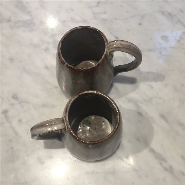 Vintage Studio Pottery Coffee Mugs - A Pair For Sale - Image 4 of 6