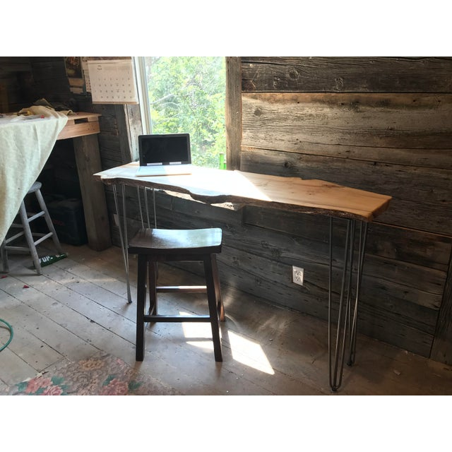 Live Edge Console Table For Sale - Image 11 of 12