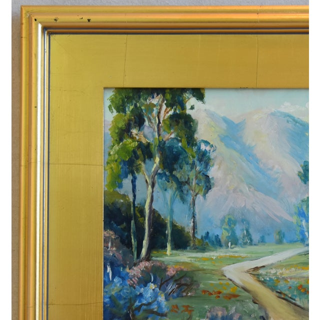 Mid 20th Century Artist Marie Buck Plein Air Framed Landscape Oil Painting For Sale - Image 5 of 9