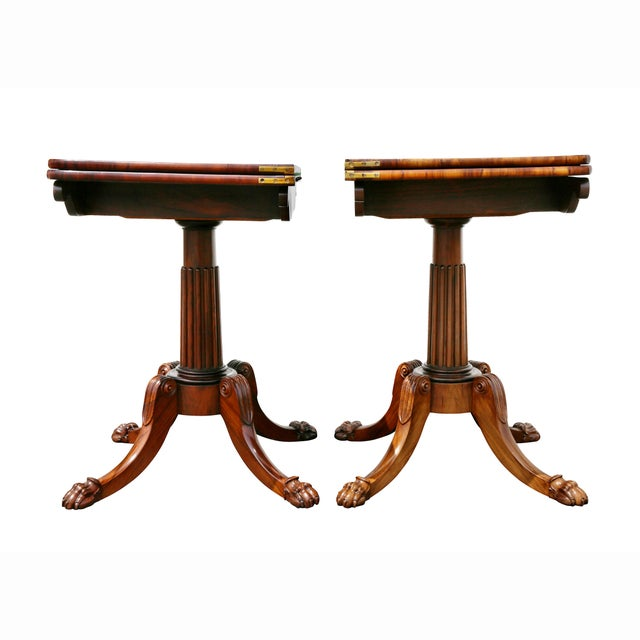 Pair of Regency Rosewood Games Tables For Sale - Image 11 of 13